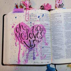 Bible Journaling by Shawna Clingerman Bible Love, Faith Bible, My Bible, Scripture Art, Bible Art, Bible Quotes, Bibel Journal, Bible Study Journal, Art Journaling