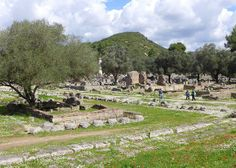 The site of the ancient Olympics - Olympia, Greece where the first games took place in 776 BC.