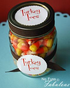Turkey Toes party favor