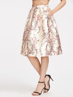 To find out about the Calico Print Zipper Box Pleated Tulip Skirt at SHEIN, part of our latest Skirts ready to shop online today! Box Pleat Skirt, Box Pleats, Pleated Skirt, Dress Skirt, Tulip Skirt, Floral Print Skirt, Long Skirt Fashion, Trendy Fall Outfits, Party Skirt