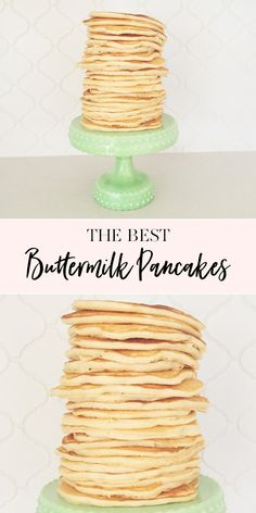 The Best Pancakes EVER. Freeze Pancakes, Pancakes Easy, Buttermilk Pancakes, Homemade Pancakes, Microwave Recipes, Oven Recipes, Perfect Pancake Recipe, Croissant Breakfast Sandwich, Breakfast Recipes