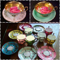 Vintage demitasse cups