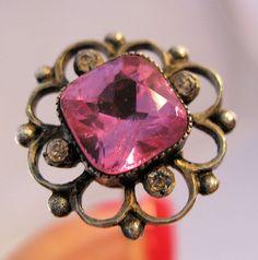 Edwardian Long Jeweled Hat Pin Sterling by BrightEyesTreasures, $55.00