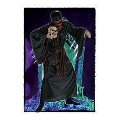 DisfracesMimo, disfraz zombie sangriento hombre talla m/l.Este completo traje con sombrero negro es ideal para aterrorizar al personal en una fiesta de Halloween o temática.Este disfraz es ideal para tus fiestas temáticas de disfraces de zombie y miedo para hombre adultos.