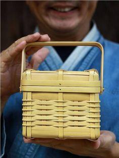 ミニバスケット ピクニックバスケット 竹弁当箱 ランチボックス lunchbox 小物入れ 収納ボックス bamboo 竹製品 虎斑竹専門店 竹虎