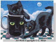 """""""Black Cat Coffee Cup Fun"""""""