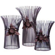 Celebrate fall with this set of three candle holders, available exclusively at Cracker Barrel Old Country Store®.