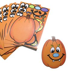Pumpkin sticker with assorted eyes, eyebrows, nose and mouths. Halloween stickers are the perfect Halloween party favor. A fun Halloween favor for party goers and trick-or-treaters alike! They make a great party favor giveaway. Halloween Goodie Bags, Halloween Toys, Halloween Party Favors, Halloween Stickers, Halloween Activities, Craft Activities, Pumpkin Games, A Pumpkin, Teal Pumpkin Project