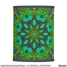 Unique Impressionist Stained Glass Mandala Lampshade