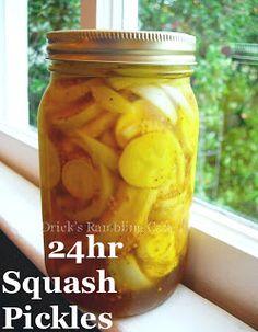 Drick's Rambling Cafe: Squash Pickle Recipe - 24 hour recipe
