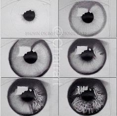 Eye drawing tutorial.