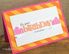 It's Your Birthday Card by Nichole Heady for Papertrey Ink (March 2013)