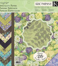 "Product for Project # 4 - Susan Winget Botanical Specialty Paper Pad 12""X12"" : papercrafting coordinates : scrapbooking :  Shop 