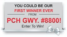 Enter to win and in just weeks, you could make history by becoming the first person to win a SuperPrize from the brand-new Giveaway Number, PCH Giveaway #8800!