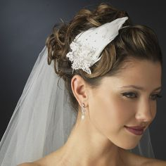 Rhinestone and ivory feather side accented bridal headband headpiece. Free shipping. Buy now http://topweddinggear.com/silver-clear-rhinestone-and-ivory-feather-side-accented-bridal-headband-headpiece-2013-13561