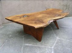 Love these free form slab tables.  George Nakashima - love.