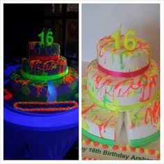 Lumo party cake 16 year old birthday party