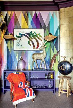 Design|A gypsy chic family in Paris, Tangier, Brooklyn. [ PlankWood.com ] #rustic #plank #wood