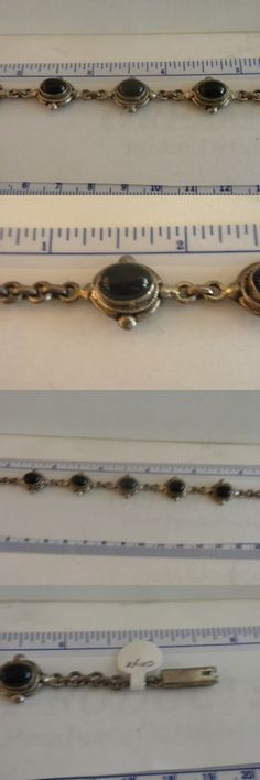 Gemstone 164315: Beautiful Black Onyx And .925 Sterling Silver Tennis Bracelet See Pics -> BUY IT NOW ONLY: $53.0 on eBay!