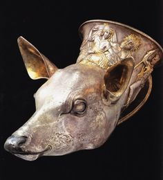 Greek silver rhyton, found in northern Italy V-IV cent BCE. Musei Civici, Trieste