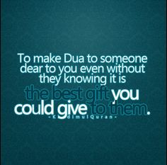 make a beautiful dua for someone and an Allah sends a angel to make the same dua for you.  Islam is beautiful