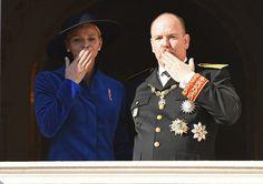 Newmyroyals: Monaco National Day, Princely Palace, November 19, 2017-Princess Charlene and Prince Albert
