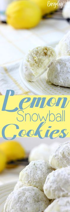 Lemon Snowball Cookies are a really simple cookie recipe that's loaded with a burst of lemon! | EverydayMadeFresh.com https://www.everydaymadefresh.com/lemon-snowball-cookies/