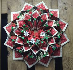 Christmas fold'n stitch wreath by CountryInspireCreate on Etsy