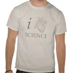 I Heart Science Nerd Geek Humor Funny Genius Shirt