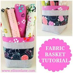 This fun and easy-to-make fabric bucket is cute and functional! Fabric buckets are perfect for holding all sorts of things such as toiletries and other sma