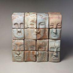 Ceramic sculpture. Faces Oleksandr Miroshnychenko