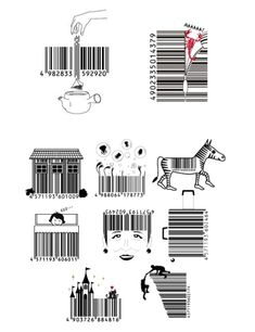 Barcode Art, Barcode Design, Ad Design, Logo Design, Graphic Design, Wow Image, Pop Art Images, Black And White Doodle, Book Layout