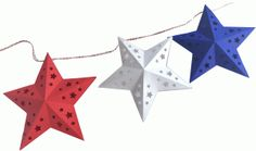 Silhouette Design Store - View Design #62113: 3-d star garland