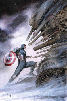 Captain America by Adi Granov// o herói se opõe a uma força maior: o governo