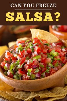 Can you freeze salsa? You sure can! Here's how to properly store, freeze, and thaw your salsa so you can enjoy it for up to 4 months. Healthy Foods To Eat, Healthy Eating, Healthy Recipes, Easy Recipes, Diet Recipes, Quick Easy Dinner, Quick Easy Meals, Freeze Salsa