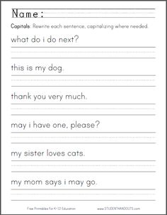 math worksheet : 1000 ideas about sentence writing on pinterest  reading recovery  : Kindergarten Sentence Writing Worksheets