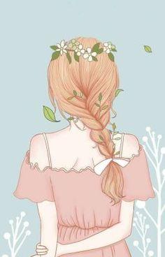 New Hair Drawing Illustration Anime Girls Ideas Cute Girl Wallpaper, Cartoon Wallpaper, Cartoon Kunst, Cartoon Art, Cartoon Ideas, Cute Cartoon, Girly Drawings, Cartoon Drawings, Cartoon Girl Drawing