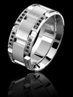Carlex 18k white gold wedding band set with 64 round brilliant diamonds Style WB-9462-S