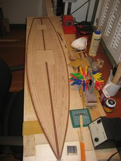 """A photo gallery of the building process of a """"Peony"""" Vintage Marblehead (VM) class RC sailboat started at the Wooden Boat School, Brooklin, ME"""