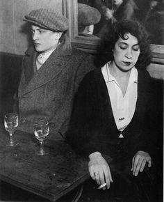 kiki's paris artists and lovers | Brassaï, Lovers' Quarrel, bal des Quatre Saisons, Rue de Lappe