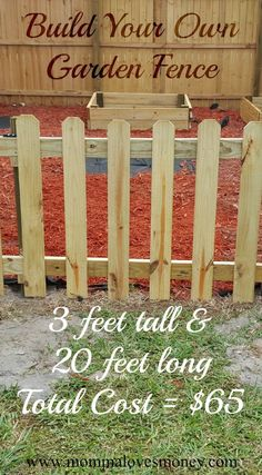 Adorable and affordable DIY garden fence with a functional gate. Step by step instructions with lots of pictures.