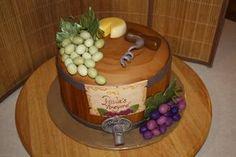 Wine Themed Cake Wine