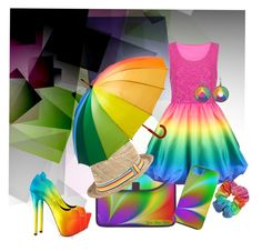 """""""Rainbow Day"""" by kashmier ❤ liked on Polyvore featuring Jendi and TaylorSays"""