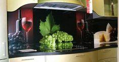 Midagi omapärast - on see tegelikkus või pilt?! :) modern kitchen backsplashes made with glass panels and digital printing