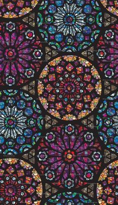 Stained Glass Rose Windows