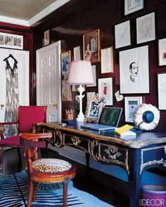 Eclectic Decorating Style | ... feel of this eclectic home office. Image via Mox Design Interiors