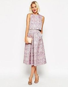 Shop ASOS Jacquard Skirt Co-ord. With a variety of delivery, payment and return options available, shopping with ASOS is easy and secure. Shop with ASOS today. Simple Dresses, Beautiful Dresses, Casual Dresses, Short Dresses, Formal Dresses, Fall Wedding Outfits, Look Fashion, Fashion Outfits, Dress Skirt