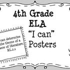 This set of posters features all the 4th Grade Common Core ELA Standards written in kid-friendly