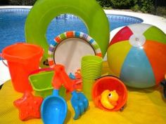 Kids Beach Party - Surf's Up and So are Fun Times with this Pool Party Theme