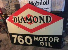 Diamond Motor Oil Porcelain Sign